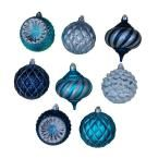 Holiday Frost 5 in. Christmas Ornaments with Pattern (9-Pack)