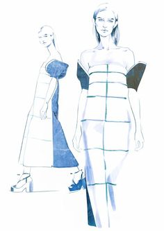DELPOZO SS15 collection sketches on Behance