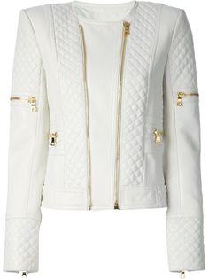 4c11d4b5 BALMAIN Quilted Lambskin Biker Jacket Stylish Jackets, Color Negra, Fur  Trim, Zippers,
