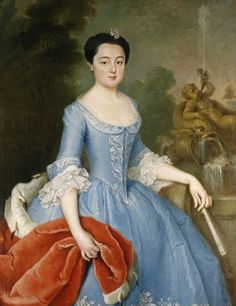Princes Henriette Catharina van Anhalt-Dessau painted by Joachim Martin Falbe(1740-1745). Photo: Heinz Fräßdorf.