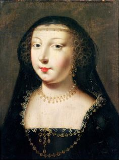 Portrait of Gabrielle d'Estrees (oil on panel). French School 16th c.