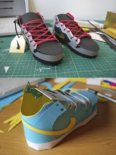 paper sneakers from David Brownings