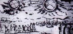 UFOs and Extraterrestrials in Art History - Crystalinks This picture shows a UFO sighting over Hamburg, Germany The objects were described as 'two glowing wheels' or UFOs November 1697 Aliens And Ufos, Ancient Aliens, Ancient History, Art History, Alien Proof, Ancient Astronaut Theory, Alien Theories, Unexplained Phenomena, Ancient Mysteries
