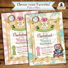 Alice in Wonderland Free Downloadable PDF Invitations Putti Fine
