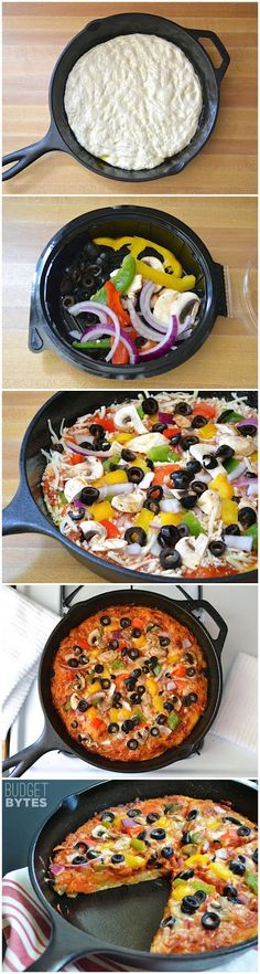 No Knead Pan Pizza | lookchef