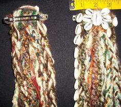 Pair of Tribal Hair Falls w/cowrie shells. $15.00, via Etsy.