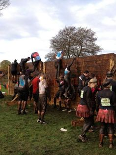Complete an obstacle course race like  Tough Mudder or a Spartan Race