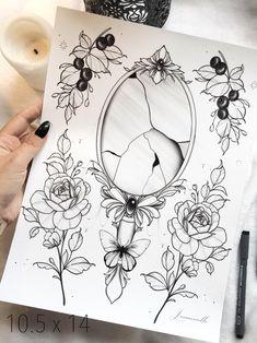 Thigh Sleeve Tattoo, Sleeve Tattoos, Mommy Tattoos, Future Tattoos, Spiegel Tattoo, Broken Mirror Art, Mirror Tattoos, Printable Tattoos, Framed Tattoo