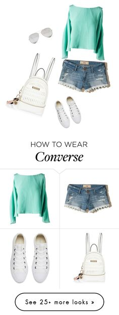 """""""cómodo y chic"""" by princesaurbana on Polyvore featuring Sunny Rebel, Leka, Hollister Co., River Island and Converse"""
