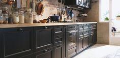 Nieuwe zwarte IKEA keuken met Metod keukensystemen #keukens #ikea #keukensystemen