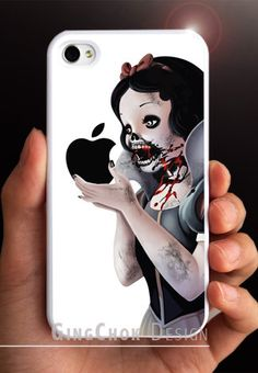 @Angela Humke Zombie iPhone 4 case, iPhone case for iPhone 4 or iPhone 4S. $11.50, via Etsy.