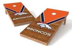Denver Broncos Cornhole Board Set - Uniform (w/Bluetooth Speakers)