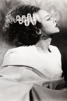 Elsa Lanchester in a publicity photo for The Bride of Frankenstein (1935)