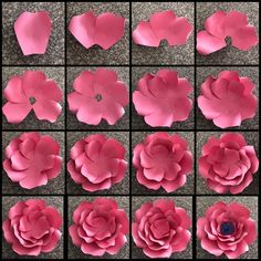 I also made a picture tutorial just so you can get a closer look on how i put template 17 together paperflowers paperflower handmade diy art Pdf giant 40 inch flower the rosa mystica paper flower template digital version including the base must be printed Paper Flowers Craft, Large Paper Flowers, Paper Flower Wall, Paper Flower Backdrop, Giant Paper Flowers, Flower Wall Decor, Flower Crafts, Diy Flowers, Flower Decorations