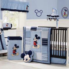 mickey mouse theme idea in blue color scheme for baby boy nursery ideasjpg