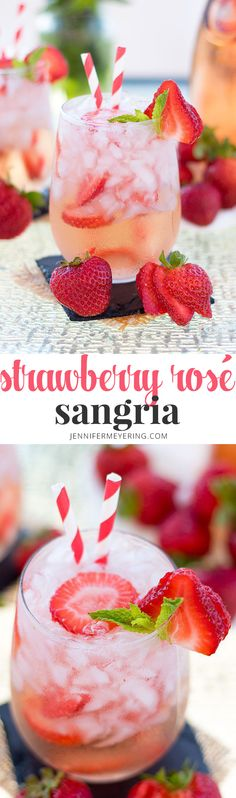 Strawberry Rosé Sangria   JenniferMeyering.com