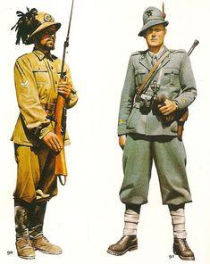 Regio Esercito - 90 Caporalmaggiore dei Bersaglieri in Nord Africa - 91 Sottufficiale degli Alpini in Francia