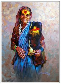 Ideas painting horse canvas portraits for 2019 Indian Art Paintings, Animal Paintings, Art And Illustration, Illustrations, Om Namah Shivaya, India Art, Indian Artist, Fabric Painting, Painting Flowers