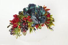 Autumn in hair floral headband floral wreath by FlorangeDeXeni