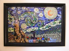 Mosaic Art  Wall Decor Van Gogh's Starry Night by PalsCreations, $800.00