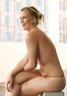 This is how a real woman should look - comfortable with her body and happy!