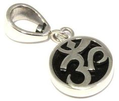 Polished Indochinite Om Pendant Tektite 925 Sterling Silver Reversible Jewelry