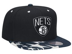 the latest 4a1ae e6d17 Brooklyn Nets Denim Stars Visor Snapback Cap by MITCHELL   NESS x NBA