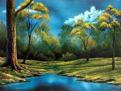 landscapepaintings | Peaceful Landscape Paintings by Bob Ross 、Bob Ross Landscape Oil ...