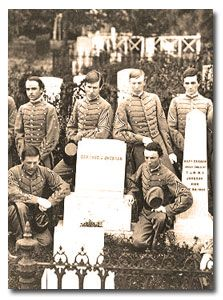 Virginia Military Institute (VMI) cadets at Jackson's grave 1868