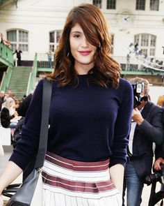 Celebrities at Fashion Week - Gemma Arterton from #InStyle