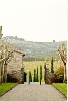 Tuscan landscape, if you own the propertie:)