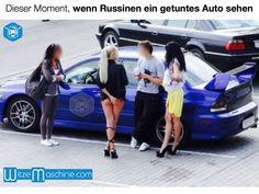 Dieser Moment, wenn russische Frauen ein schönes Auto sehen - Funny Russian Fail