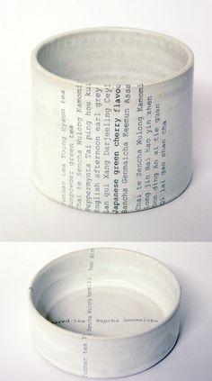 Ceramics and Typography - Ceramic Art, Ceramic Pottery Ceramic Clay, Ceramic Pottery, Pottery Art, Cerámica Ideas, Ceramic Techniques, Paperclay, Contemporary Ceramics, Clay Projects, Ceramic Design