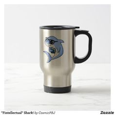 """Fintellectual"" Shark! Travel Mug"