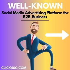 these two social media marketing platform for B2B business content by- click400 Social Media Marketing Platforms, App Development, Digital Marketing, Advertising, Branding, Content, Technology, Memes, Business