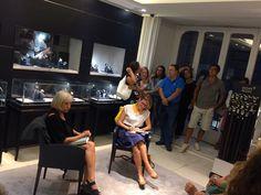 """Intervista """"A tu per tu"""" con Lidia Ravera. Cocktail esclusivo presso la boutique Montblanc di Napoli"""