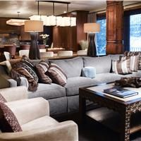 Relaxing Transitional Living & Family Room by Melissa Greenauer