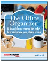 Would you like to de-clutter your office and implement effective document management techniques? Now you can — with the help of Business Management Daily and Officepal's free special report on office organization.   Download 'The Office Organizer: 10 tips to help you organize files, reduce clutter and become more efficient at work' at http://www.businessmanagementdaily.com/glp/48087/Office-Organization-Tips.html?src=PIN-RCLP-OM-OfficeOrganizationTips.