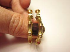 Vendome hoop earrings clip ons epsteam by betsstuff on Etsy