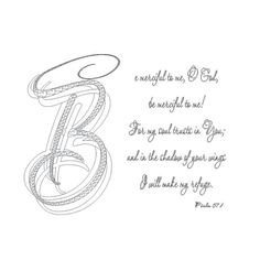 Be Merciful to Me O God, Be Merciful to Me Psalm 57:1 Instant PDF Download, Digital File, Scripture Coloring Page, Christian.Typography,