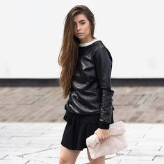 shop the look  http://ift.tt/1RolXSM  FASHNATIC Blogger:  @cocochicblog  #blogger #fashion #fashionblogger #style #munich #cocochicblog #fashnatic #leather #black #sweatshirt #love #instafashion #glamorous #streetstyle #weekend #outfit #onlineshop #shopping #potd #girls #streetwear #stylish #fashionista #shopthelook #hair #lotd #bag #lucky #fashiongram