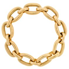TIFFANY & CO. Heavy Gold Link Bracelet | From a unique collection of vintage link bracelets at http://www.1stdibs.com/jewelry/bracelets/link-bracelets/