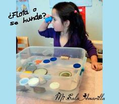 Experimentos flota se hunde Kid Science, Science Activities, Activities For Kids, Material Science, Baby Love, Homeschool, Classroom, Projects, Blog