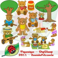 Piquenique, Digital Kit, picnic, teddy