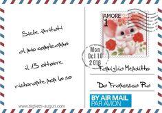 Cartoline di auguri con foto tipo posta aerea