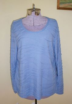 """NWT Women's Size XL Simply Vera Shirt Blouse Top Tunic 46"""" Bust Polyester Rayon #SimplyVeraVeraWang #KnitTop #Casual"""