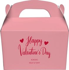 Happy Valentine's Day Gable Favor Boxes