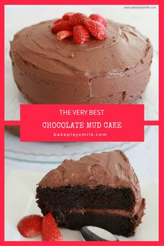 BEST CHOCOLATE MUD CAKE EVER! You only need one chocolate mud cake recipe… and this is it! It really is the best chocolate mud cake recipe ever! Dense, rich and oh-so-delicious! Thermomix Chocolate Cake, Chocolate Mud Cake, Thermomix Desserts, Chocolate Buttercream, Best Chocolate, Easy Desserts, Delicious Desserts, Delicious Chocolate Cake, Baking Recipes