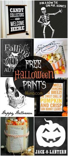 Lots of Free Halloween Printables for Scrap booking, diy, party projects and paper crafts