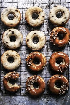 i had some ripe bananas that needed using up so i made these dougnuts. i love banana bread and im always looking for new ways to eat it so i made these banana bread doughnuts with chocolate chips and smothered in caramel. recipe 2 medium banana mashed 1/2 cup soft brown sugar 1/2 cup greek …